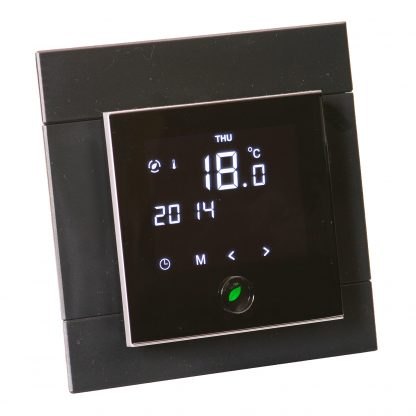 Motion sensor thermostat with a plate 4x4