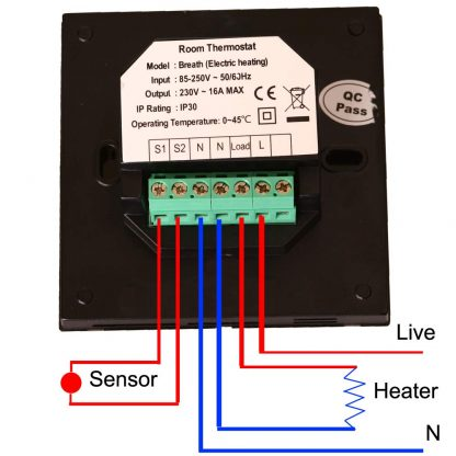 Motion sensor thermostat connection
