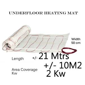 Under Floor Heating Mat - 10m2 area coverage