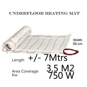 Under Floor Heating Mat - 3.5m2 area coverage