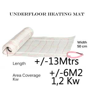 Under Floor Heating Mat - 6 m2 area coverage