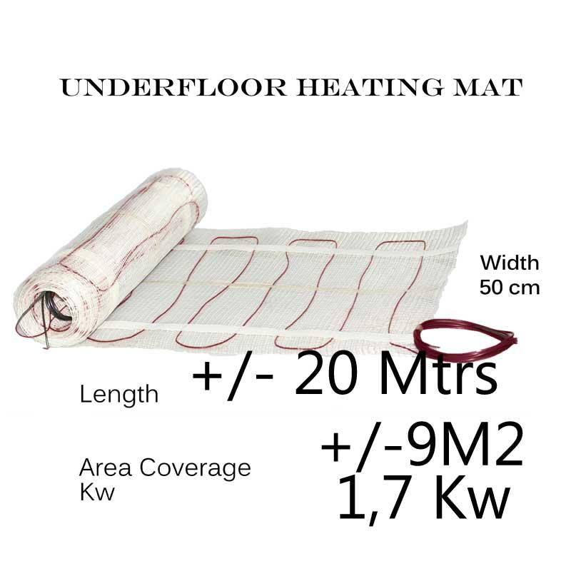 Under Floor Heating Mat - 9m2 area coverage