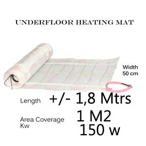 Under Tile Heating Mat - 1 m2 area coverage
