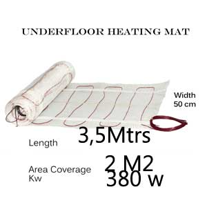 Undertile Heating Mat - 2 m2 area coverage
