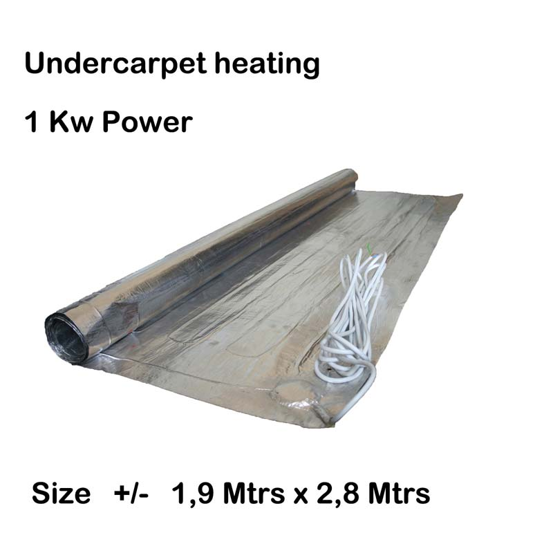 Undercarpet-heating-1kw 1,9 x 2,7 Mtrs