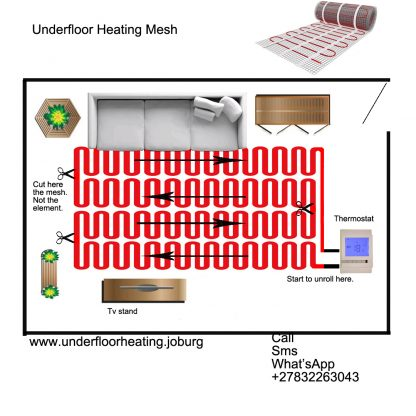Under floor heating mesh
