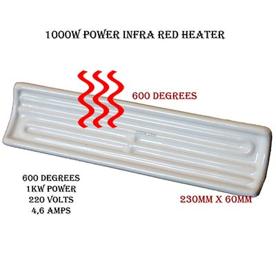1000W Infra Red Heater