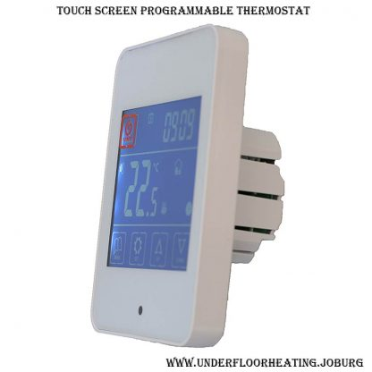 Thermostat touch screen for underfloor heating