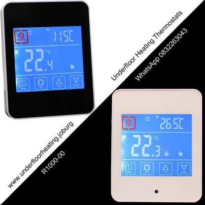 Touch-screen-thermostats---Black-and-White