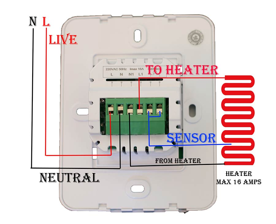 Touch Screen Thermostat Ac860h White