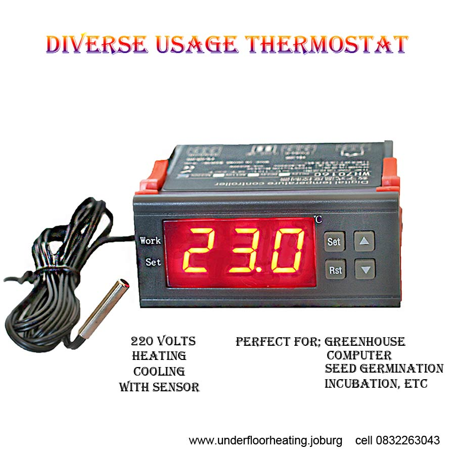 Diverse usage thermostat - Heating and Cooling